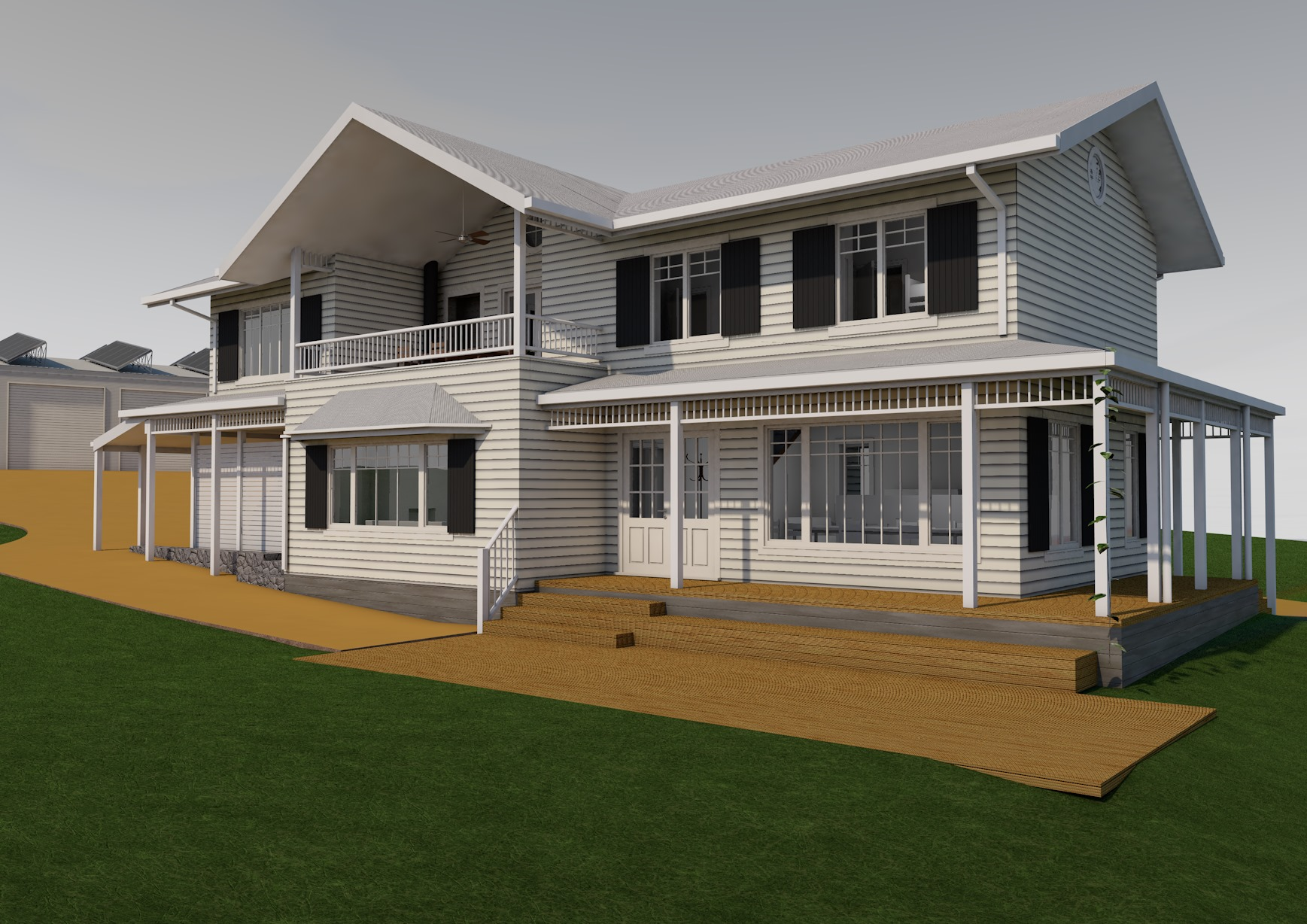 Country Style Passivhaus Front View