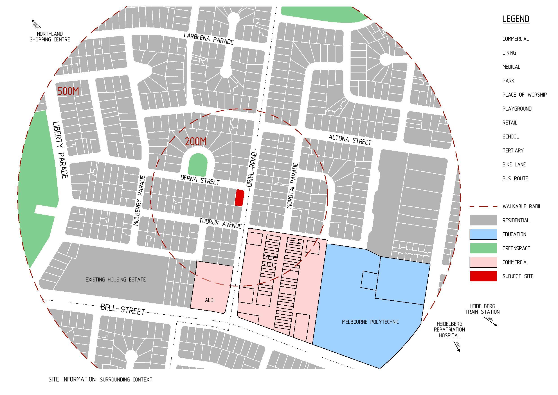 Derna Street Location Map