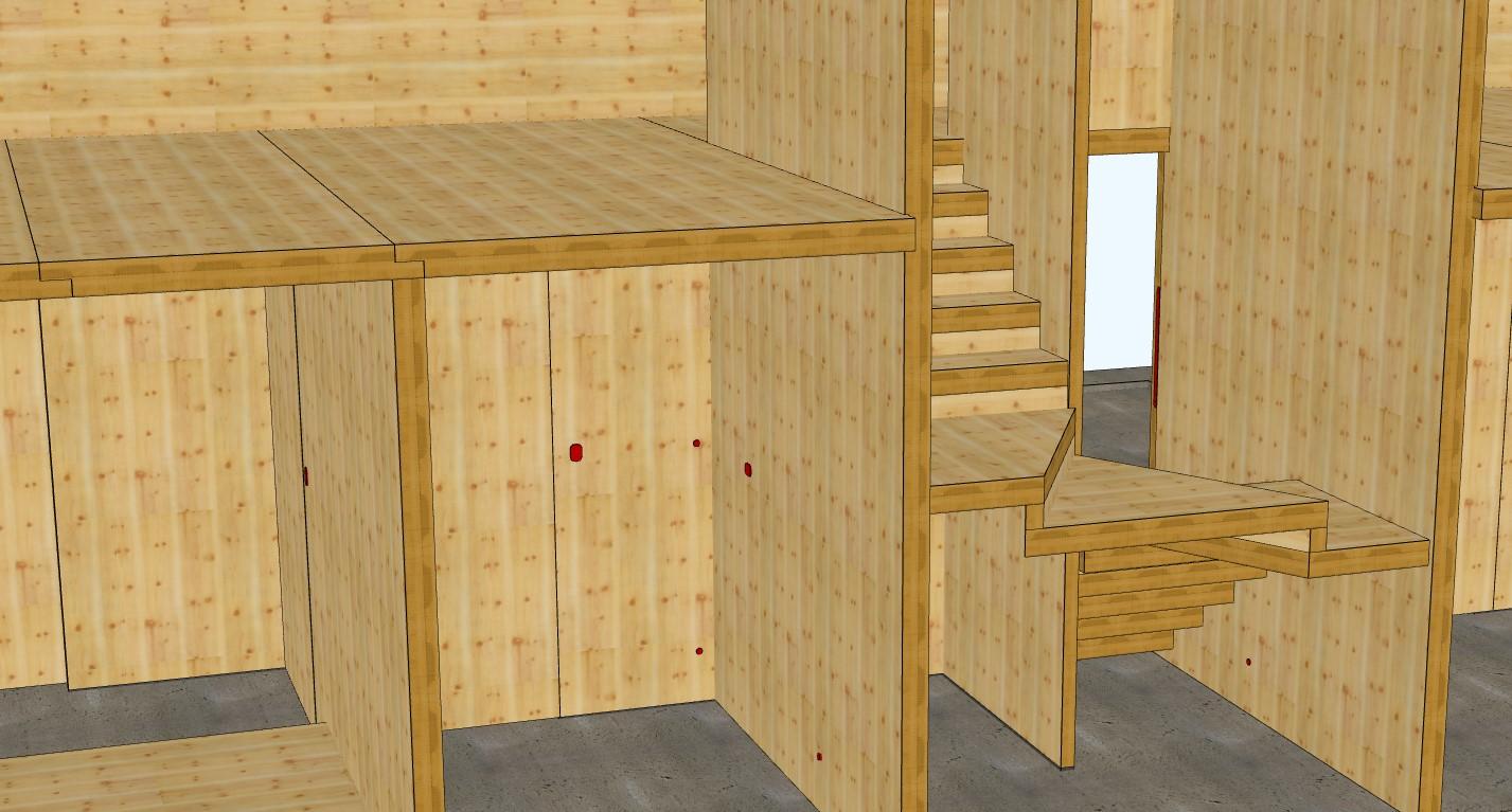 NZ CLT House Staircase