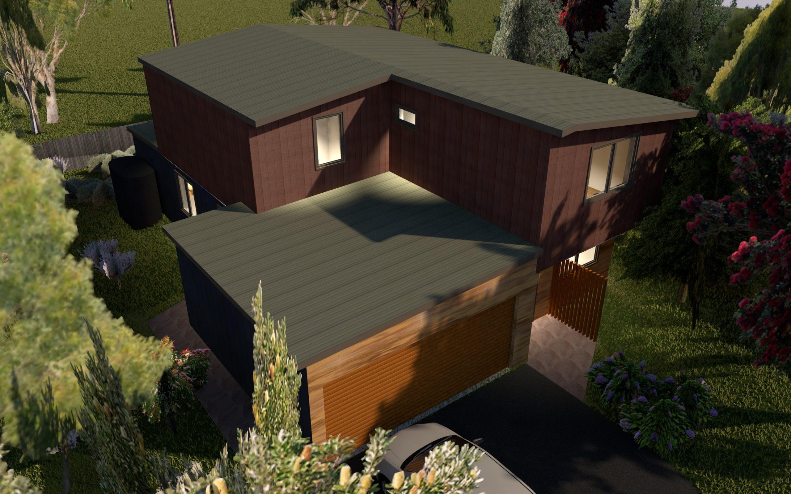 Frankston Visualisation View of Roof